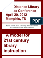 Library Instruction Model Presentation