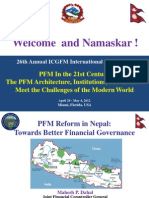 PFM Reform in Nepal