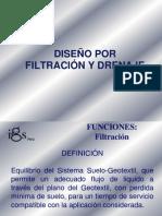 Diseño por Filtración y Drenaje