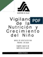 Vigilancia de la nutricion y crecimiento del niño