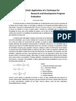 Ensayo de Articulo Aplication of a Technique for Research