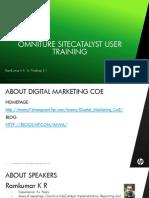 Omniture Site Catalyst User Training[1] Copy