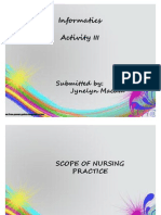 Actvity III-SCOPE OF NURSING PRACTICE/JYNELYN CAINTA MACAM