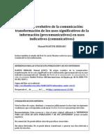 Martin Serrano (2007) Origen Evolutivo Comunicacion