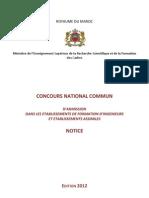 Notice CNC 2012