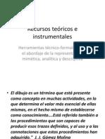 Recursos teóricos e instrumentales