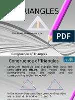The E Tutor-Congruence of the Triangle