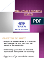 Analyzing a Business System