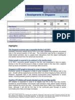 Recent Economic Developments in Singapore 01 Sep 2011