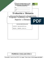 PRIMERA EVD 2012-0 Escuela Derecho