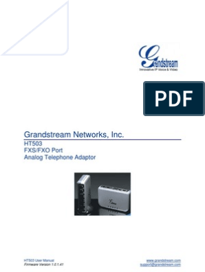 GRANDSTREAM-HT503-usermanual | Ip Address | Voice Over Ip