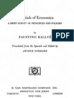 Essentials of Economics - Faustino Ballve
