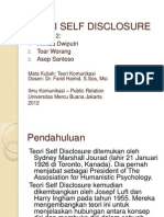 Teori Self Disclosure (Johari Windows)