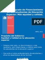 Presentación Nuevo sistema de Financiamiento Estudiantil