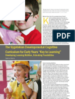 The Vygotskian Developmental Cognitive Curriculum for Early Years Key to Learning by Galina Doyla