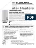 GE Water Heater Manual