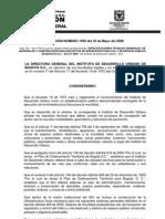 Resolucion IDU_1959_2006 Especificaciones Técnicas