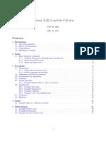 Maxima and Calculus