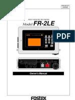 Fostex FR2 LE Manual