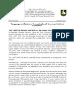 Mangguangan and Debabawon Communities Benefit Government Health and Social Services