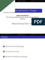 Role of Consciousness-Melbourne