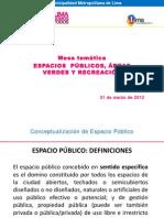 Espacios públicos y recreación