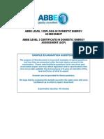 DEA Level 3 Sample Examination Questions