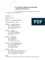 Detail Syllabus Distance Diploma Automobile Engineering Semester 1