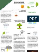 Brochure - Cambio climático