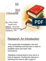 Steps Involved in a Research Process