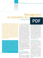 Management Et Motivation Du Personnel