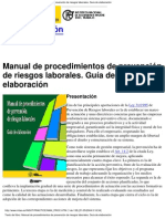 Manual Procedimientos Prevencion Riesgos Laborales