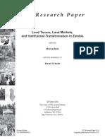 Land Tenure Report