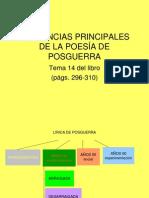 TENDENCIAS PRINCIPALES DE LA POESÍA DE POSGUERRA
