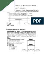 Lista de Exercicios de Prova P1 TermoFEI