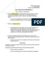 Critical Analysis Homework 2