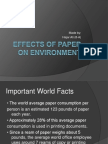 Effects of Paper on Environment