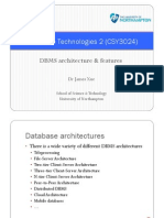 DBMS Architecture Features(3)