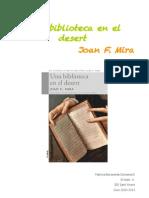 "Treball de lectura ""Una Biblioteca al Desert"" Joan F. Mira"
