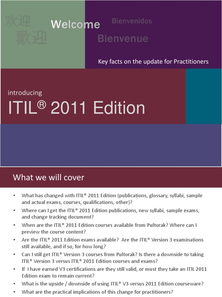 Pultorak Itil 2011 Edition Key Facts For Practitioners Final Itil