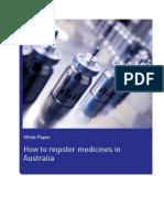 White Paper How to Register Medicines Australia