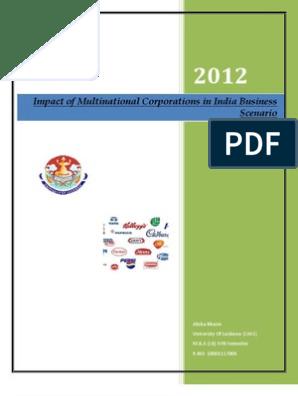 Multinational Corporation-project Report- | Multinational