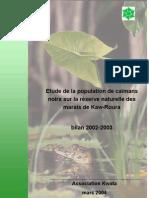 Etude de La Population de Caimans Noirs Sur La Reserve Naturelle de Roura 2002-2003