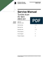 Whirlpool AWZ 221 Service Manual