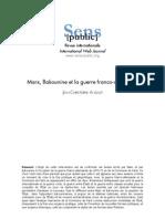 Marx Bakounine Et La Guerre Franco-Allemande (JEAN-CHRISTOPHE ANGAUT, 2005)