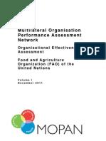 MOPAN 2011 FAO Final Vol 1 Issued January 2012