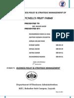 56566424 Strategic Management of Mitchels BZU Layyah Campus