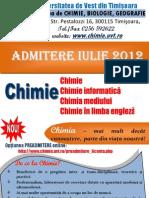 Pliant Admitere 2012 Actualizat