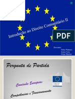 Comissão Europeia - Direito Comunitário II