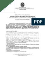 Copese Edital37-2012 Processo Seletivo Cursos Tecnicos